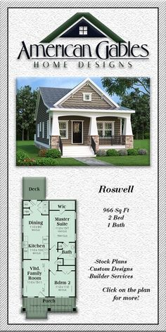 Decorating Your American Bungalow Style House Small Cottage House Plans, Small House Floor Plans, Cottage Plan, Dream House Plans, Cottage Chic, Bungalow Homes, Bungalow House Plans, Craftsman Style House Plans, Palm Beach