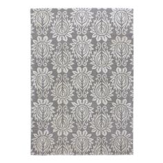 Chloe Rug in Pewter (floral Pattern, Rug Sample) | Handmade Area Rugs from Company C (New)