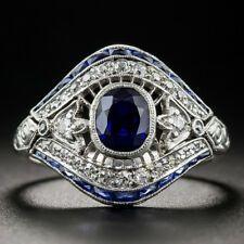 Art Deco Sapphire and Diamond Cigar Band Ring - Antique & Vintage Gemstone Rings - Vintage Jewelry Antique Rings, Antique Jewelry, Silver Jewelry, Vintage Jewelry, 925 Silver, Sterling Silver, Vintage Art, Silver Ring, Aquamarine Jewelry