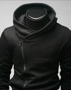 High Collar Coat, futuristic style, cyber clothes, cyber dress, black, black dress, black clothing, black clothes, future fashion by FuturisticNews