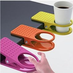 The Desk Cup Clip would be great for a student at only $2.19. I like these for eating in front of the TV. Fold away dinner trays don't have much room.