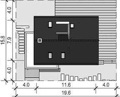Proiect casa mica cu mansarda de 115 mp + fotografii cu interiorul | CasaPost.ro Floor Plans, Interior, House, Indoor, Home, Interiors, Homes, Floor Plan Drawing, Houses