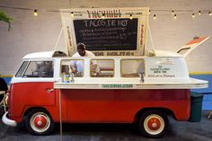 Tacombi taco truck. Love the idea of food served out of an old VW Bus!
