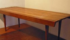 MCM slat bench or coffee table.