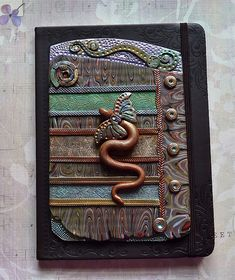 Polymer Clay Journal Flying Snake