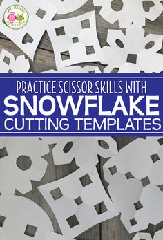 Making paper snowflakes is much easier for young kids, when you use snowflake cutting templates or patterns. It's a perfect way to work on scissor skills. Snow Activities, Winter Activities For Kids, Winter Crafts For Kids, Holiday Activities, Winter Fun, Preschool Winter, Making Paper Snowflakes, Winter Thema, Snow Theme