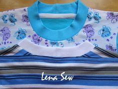Закрываем плечевые швы и шов горловины на трикотажных изделиях. МК. от пользователя «Lena-Sew» на Babyblog.ru