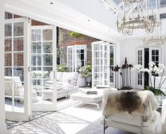 Looking for new trending french door ideas? Find 100 pictures of the very best french door ideas from top designers. House Design, House, French Doors, Indoor Outdoor Living, Home, Bifold Doors, House Plans, House Styles, New Homes