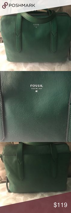 Fossil Leather, Satchel Perfect Condition, Has long leather strap to make into crossbody.  Nice quality leather. Fossil Bags Satchels