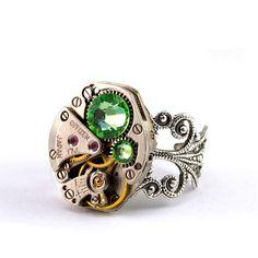 Emerald City Steampunk Ring