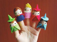Finger Puppet Sleeping Beauty set