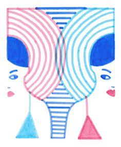 """illustration pour la rubrique """"vie de Paulette"""" dans le numéro Lait Fraise de Paulette magazine, sortie juin 2015."""