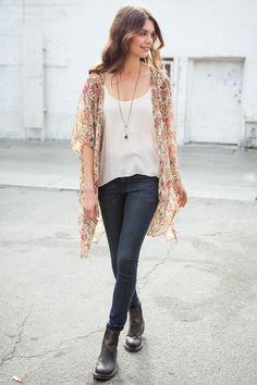 Brandy ♥ Melville | Alexis Kimono Top - Kimonos - Outerwear - Clothing