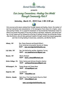 Our Loving Connections: Healing Our World Through Community- Part II - Central PA Holistic Wellness (State College, PA) - Meetup