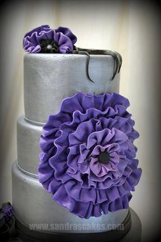 Purple ruffles 3 by sandrascakes, via Flickr