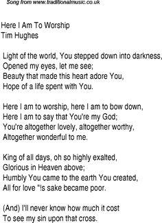 Christian worship song lyrics christian worship song lyrics here i