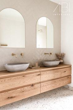 Timber Bathroom Vanities, Timber Vanity, Ensuite Bathrooms, Bathroom Interior, Master Bathroom, Earthy Bathroom, Rustic Bathrooms, Heritage Bathroom, Bathroom Inspiration