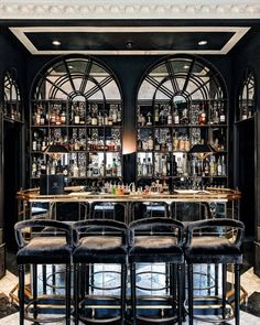 Glamorous and exciting bar decor needs matching furniture. Discover our collecti. Glamorous and ex Restaurant Design, Restaurant Bar, Modern Restaurant, San Francisco Bars, Bar Interior Design, Luxury Interior, Luxury Bar, Home Bar Decor, Home Bar Designs