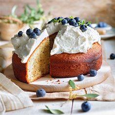 Cream Cheese Spreads, Natural Yogurt, Blueberry Cake, Sweet Recipes, Camembert Cheese, Sugar Free, Cheesecake, Cooking Recipes, Baking