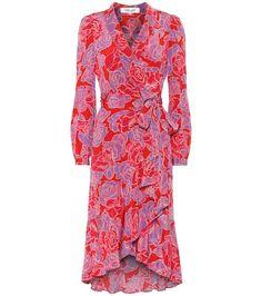 Exclusive To Mytheresa – Carla Two Floral Silk Midi Dress - Pink - Diane von Furstenberg Dresses Midi Flare Skirt, Pink Midi Dress, Royal Blue Dresses, Mid Length Dresses, Von Furstenberg, Printed Dresses, Jumpers, Designer Dresses, Fashion Online