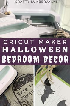 We're getting crafty with the Cricut Maker to help spookify our bedroom! Whimsical Halloween, Halloween Party Decor, Halloween Diy, Diy Home Crafts, Diy Craft Projects, Decor Crafts, Diy Apartment Decor, Diy Bedroom Decor, Halloween Window Clings