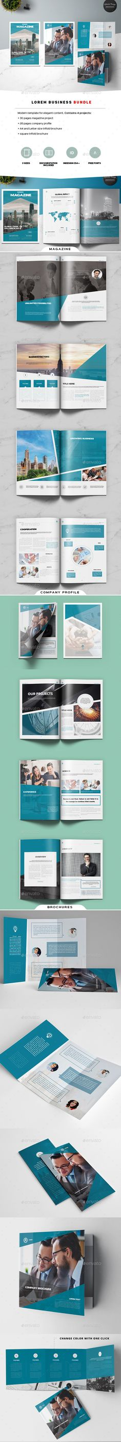 Lorem Business Bundle by Kahuna_Design Lorem Business BundleLorem Business Bundle contains 4 independent projects. Universal and elegant design gives you an opportunity