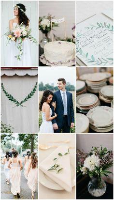 Cool Modern Wedding with Foliage Decor & DIY Details