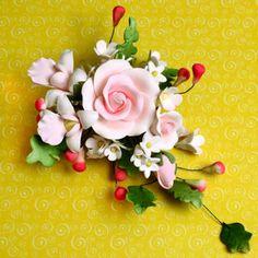 Large Tea Rose Spray - Pink   CaljavaOnline