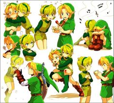 link, ocarina of time, and the legend of zelda-bild The Legend Of Zelda, Legend Of Zelda Breath, Saria Zelda, Link Zelda, Zelda Twilight Princess, Animes Emo, Ocarina Of Times, Chibi, Breath Of The Wild