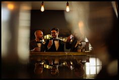 Groomsmen at the Town Hall hotel Bar