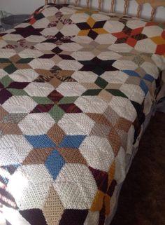 Star crochet quilt