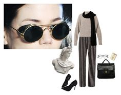"""alis aspicio astra"" by unwriteable ❤ liked on Polyvore featuring Balenciaga, Isabel Marant, Coach, Schutz and Romanelli"