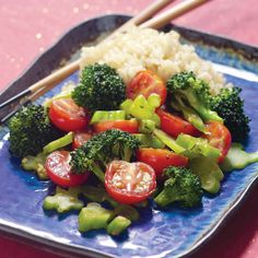 Broccoli & Tomatoes with Rice Wine-Oyster Sauce Recipe : Cooking.com Recipes