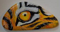 Tiger eye - Rock Painting by Annamoon77 on deviantART