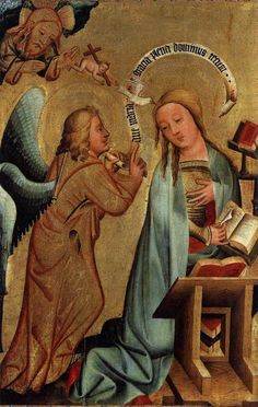 MASTER BertramSt Peter (Grabow) Altarpiece: Annunciation1379-83