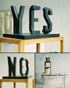 photo de la sculpture Yes/No