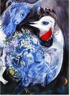"Marc Chagall,  ""Feathers in Bloom"""