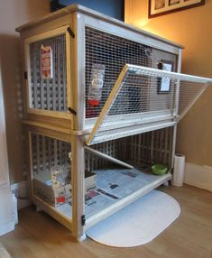 How to make a Bunny Palace (Ikea hack rabbit cage) - Rabbit Hutches: Outdoor & Indoor Rabbit Hutche Models Diy Bunny Cage, Diy Guinea Pig Cage, Guinea Pig House, Bunny Cages, Guinea Pigs, Rabbit Cage Diy, Rabbit Rabbit, Diy Bunny Hutch, Peter Rabbit