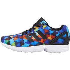 check out 02979 4a6ad Para-Hombre-Adidas-Originals-Zx-Flux-formadores-Varios-Colores-En-Negro -Blanco-Running-Shoe