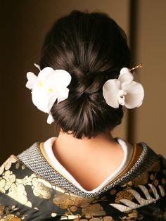 Wedding Hair And Makeup, Hair Makeup, Japanese Hairstyles, Hair Pins, Wedding Hairstyles, Graduation, Kimono, Bridal, Landscape