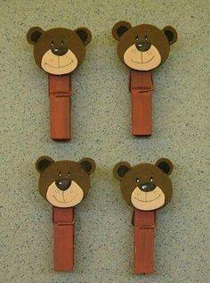 "Képtalálat a következőre: ""bear craft"" Popsicle Stick Crafts, Craft Stick Crafts, Diy And Crafts, Craft Activities For Kids, Preschool Crafts, Crafts For Kids, Cardboard Crafts Kids, Cute Christmas Decorations, Bear Crafts"