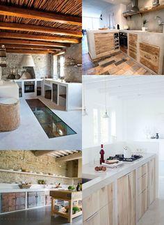 ideas_cocinas_rusticas Ideas Para, Building, Furniture, Kitchen Ideas, Kitchens, Home Decor, Inspiration, Pereira, Modern Minimalist