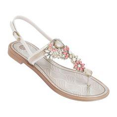 Grendha - Coleção Refinatta heelstrap white