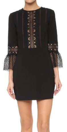 Self Portrait - Bell Sleeved Lace Dress - Hire £69
