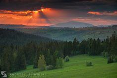 Amazing sunset. The Beskidy Mountains on the background.  #landscapephotography