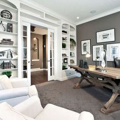 Home Office Gray Design, Pictures, Remodel, Decor and Ideas - page 21