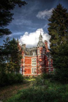 Abandoned castle in Belgium    Le Chateau Rouge
