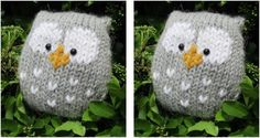 Adorably Stuffy Knitted Owl [FREE Knitting Pattern]