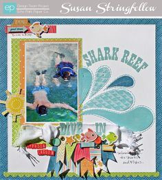 Shark-Reef- Creating handcut and outlined paper shapes with Susan Stringfellow