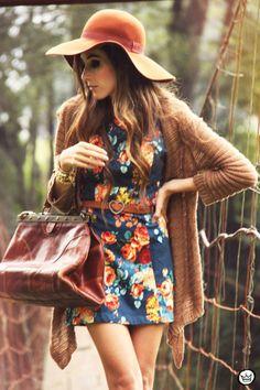 FashionCoolture - 09.04.2013 look du jour Antix dress floral winter coleção estampa Asos  (2)